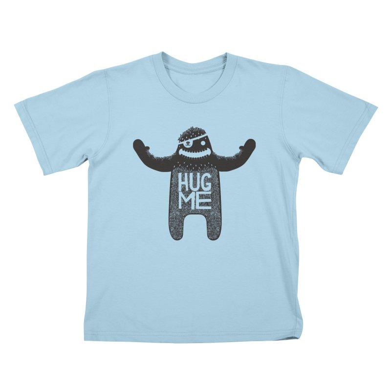 Hug Me Sasquatch Kids T-Shirt by The Illustration Booth Shop