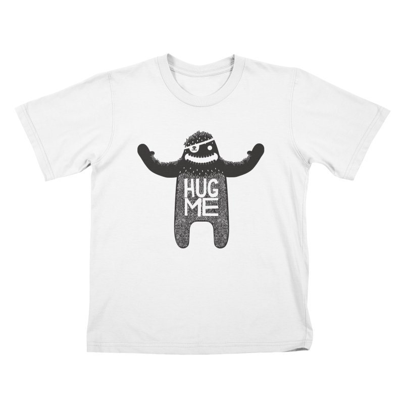 Hug Me Sasquatch Kids T-shirt by The Illustration Booth Shop