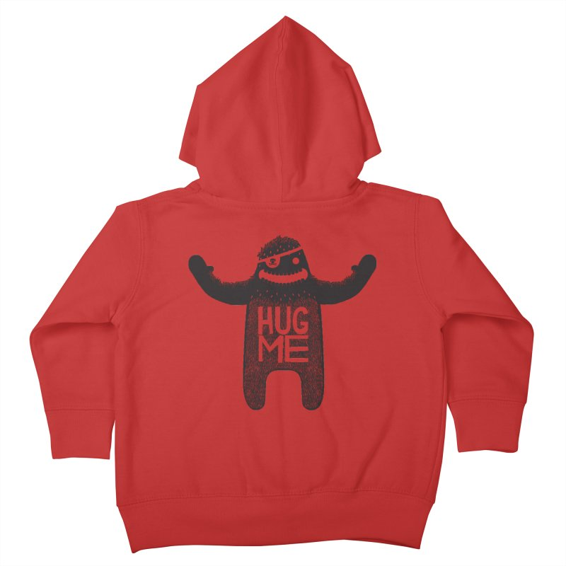 Hug Me Sasquatch Kids Toddler Zip-Up Hoody by The Illustration Booth Shop