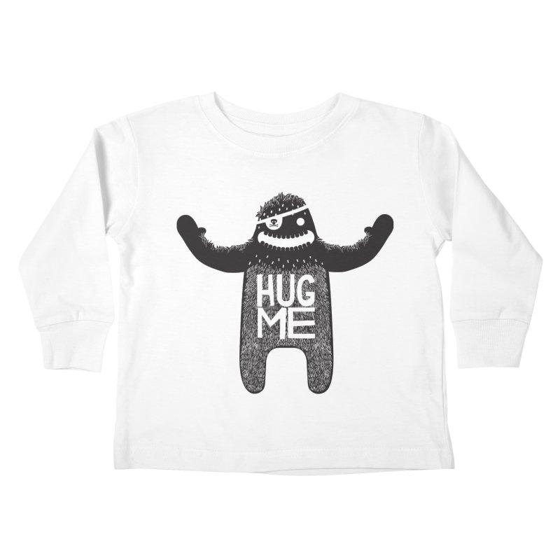 Hug Me Sasquatch Kids Toddler Longsleeve T-Shirt by The Illustration Booth Shop
