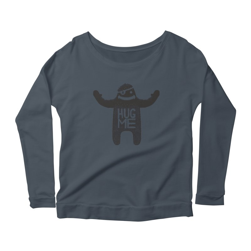 Hug Me Sasquatch Women's Longsleeve Scoopneck  by The Illustration Booth Shop