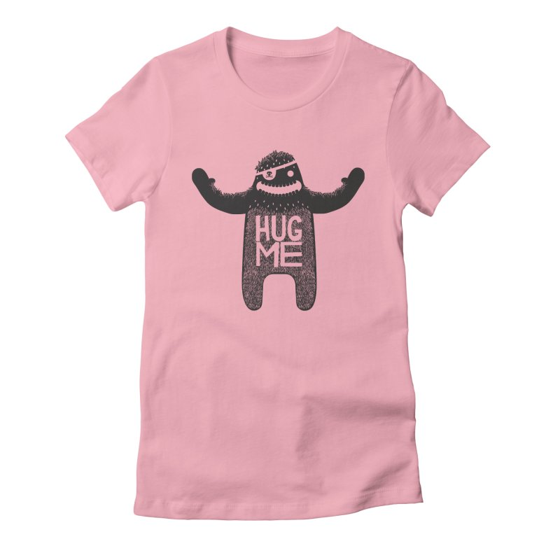 Hug Me Sasquatch Women's Fitted T-Shirt by The Illustration Booth Shop