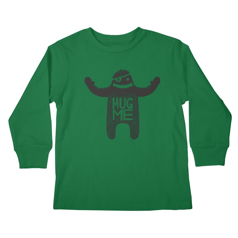 Hug Me Sasquatch Kids Longsleeve T-Shirt by The Illustration Booth Shop