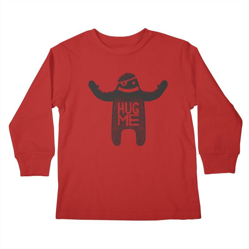 Hug Me Sasquatch Kids Longsleeve T-Shirt by The Illustration Booth Shop