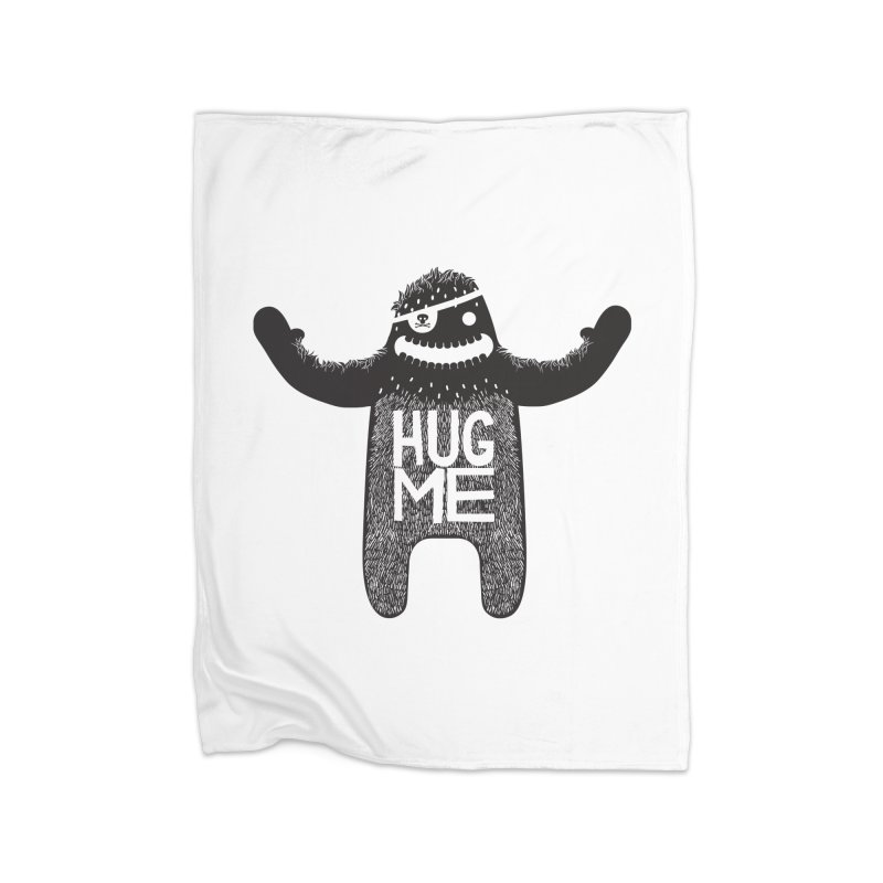 Hug Me Sasquatch Home Blanket by The Illustration Booth Shop