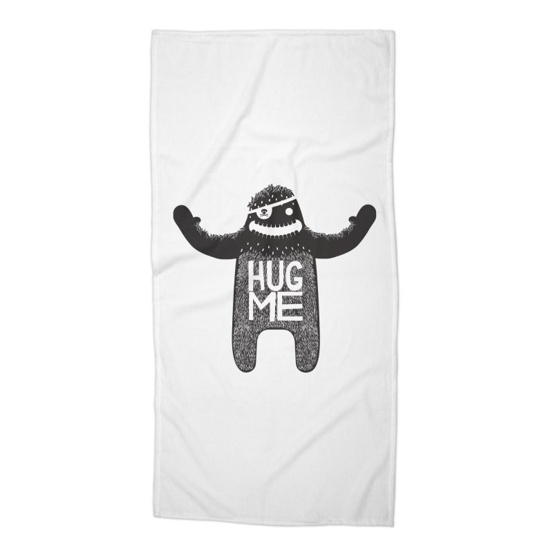 Hug Me Sasquatch Accessories Beach Towel by The Illustration Booth Shop
