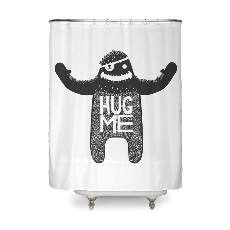 Hug Me Sasquatch Home Shower Curtain by The Illustration Booth Shop