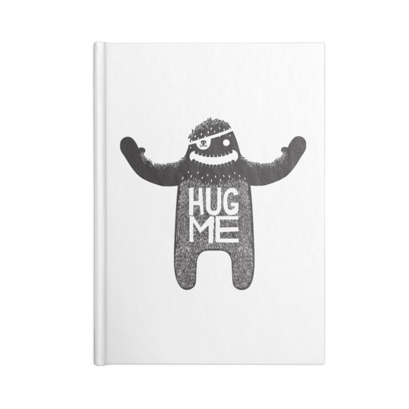 Hug Me Sasquatch Accessories Notebook by The Illustration Booth Shop