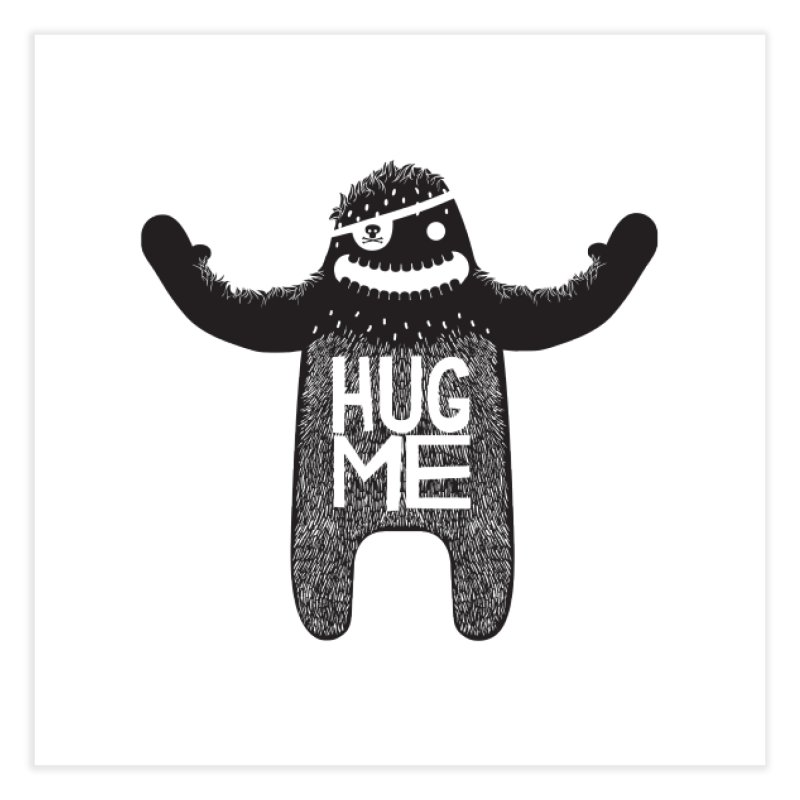 Hug Me Sasquatch Home Fine Art Print by The Illustration Booth Shop