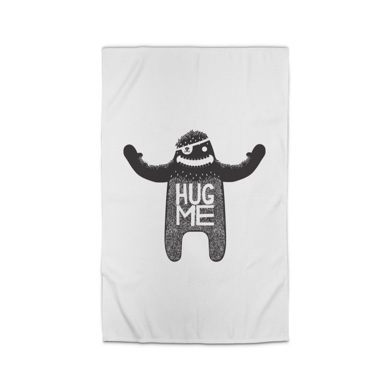 Hug Me Sasquatch Home Rug by The Illustration Booth Shop