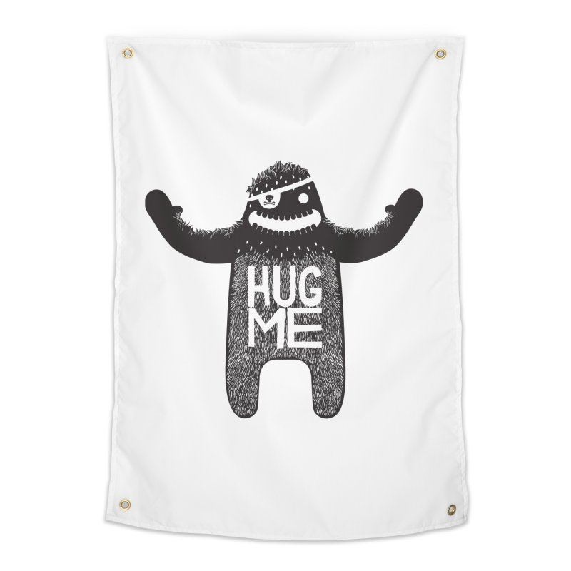 Hug Me Sasquatch Home Tapestry by The Illustration Booth Shop