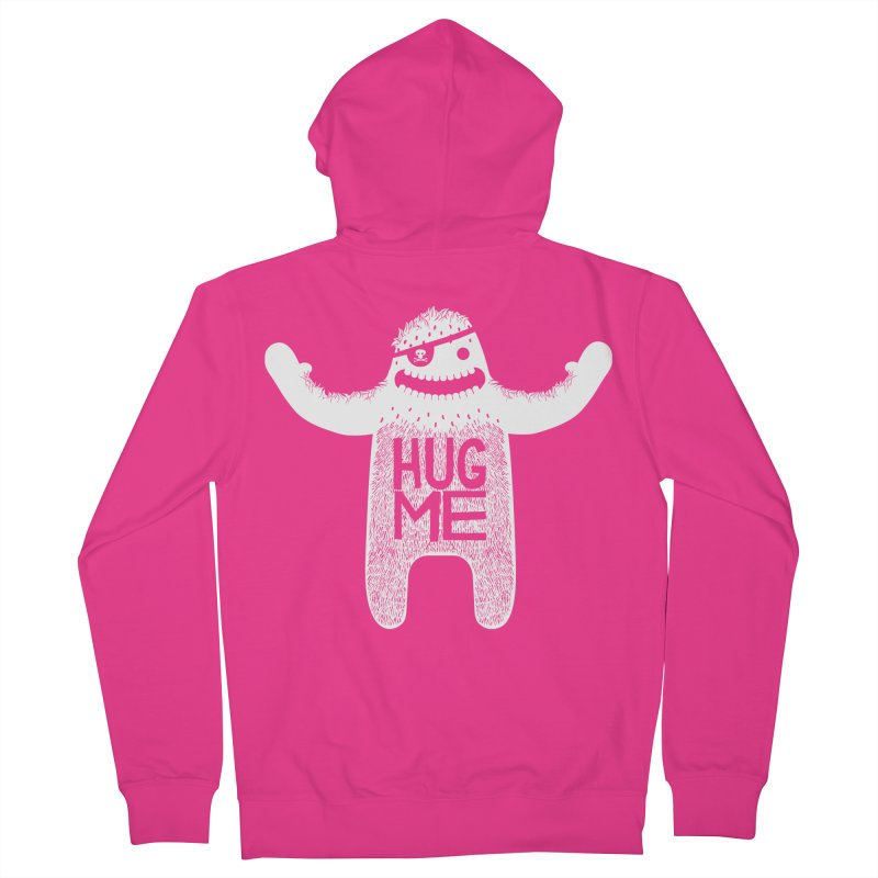 Hug Me Yeti Men's Zip-Up Hoody by The Illustration Booth Shop