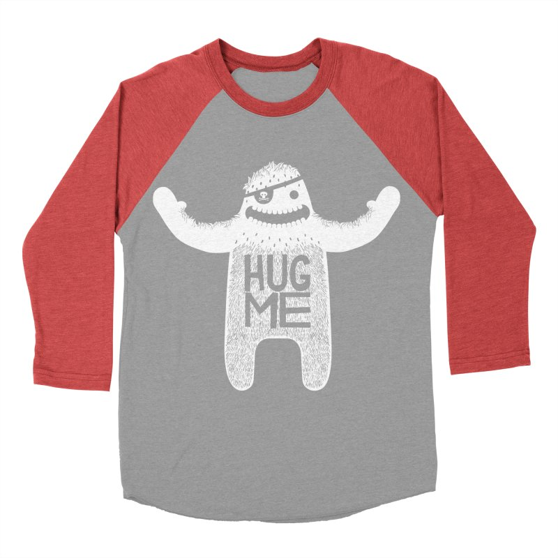 Hug Me Yeti Men's Baseball Triblend T-Shirt by The Illustration Booth Shop