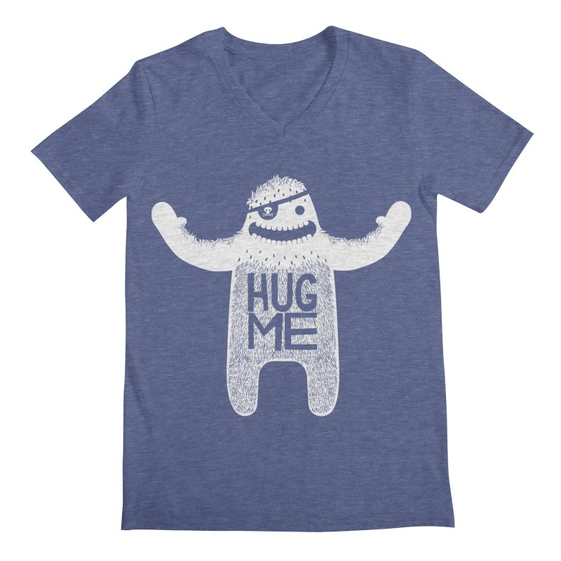 Hug Me Yeti Men's V-Neck by The Illustration Booth Shop
