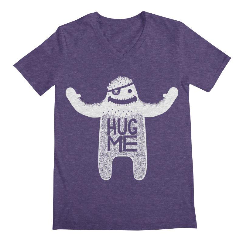 Hug Me Yeti Men's V-Neck by The Illustration Booth Shop