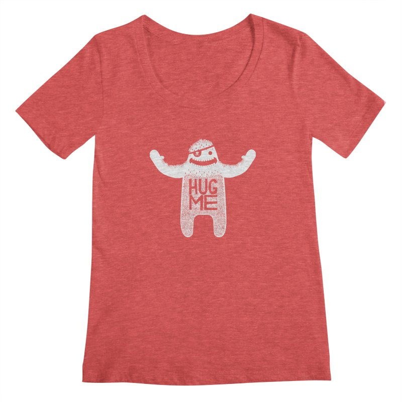 Hug Me Yeti Women's Scoopneck by The Illustration Booth Shop