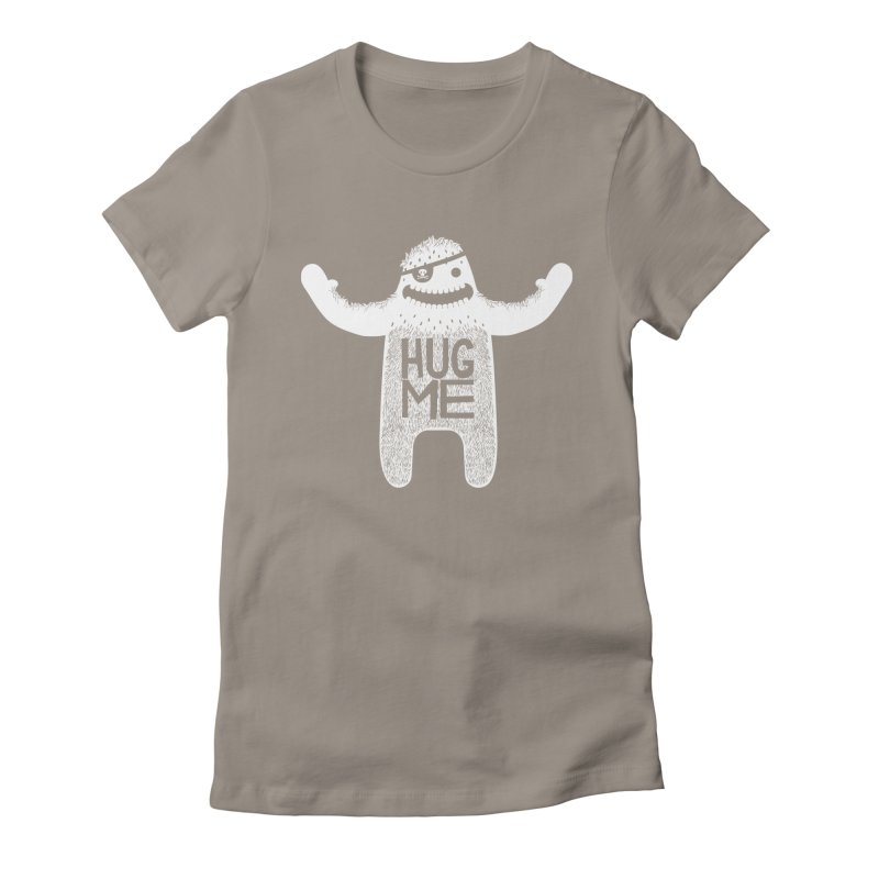 Hug Me Yeti Women's Fitted T-Shirt by The Illustration Booth Shop