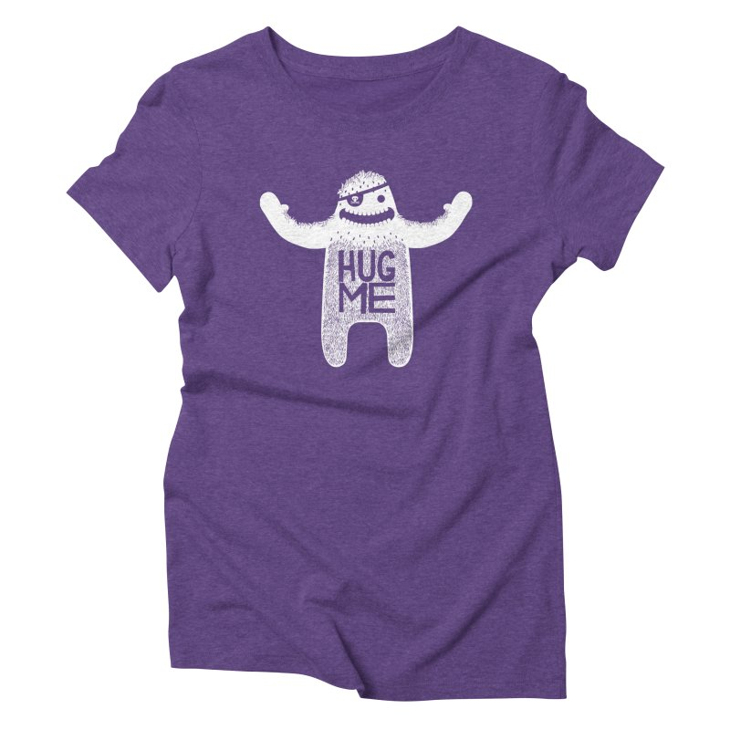 Hug Me Yeti Women's Triblend T-Shirt by The Illustration Booth Shop