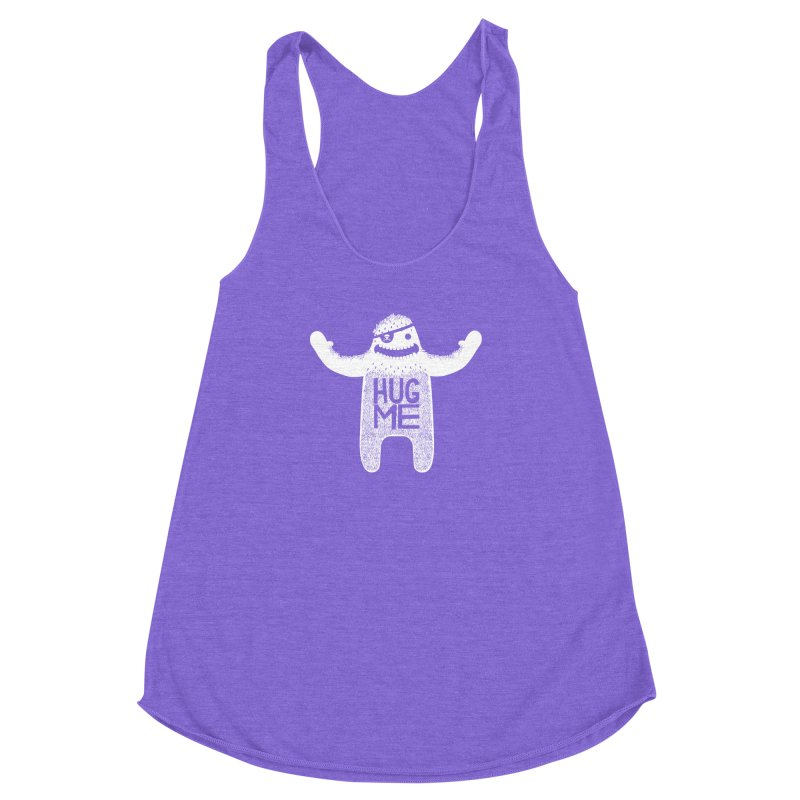 Hug Me Yeti Women's Racerback Triblend Tank by The Illustration Booth Shop