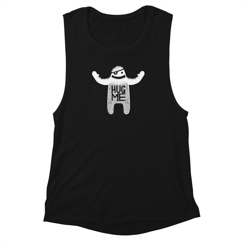 Hug Me Yeti Women's Muscle Tank by The Illustration Booth Shop