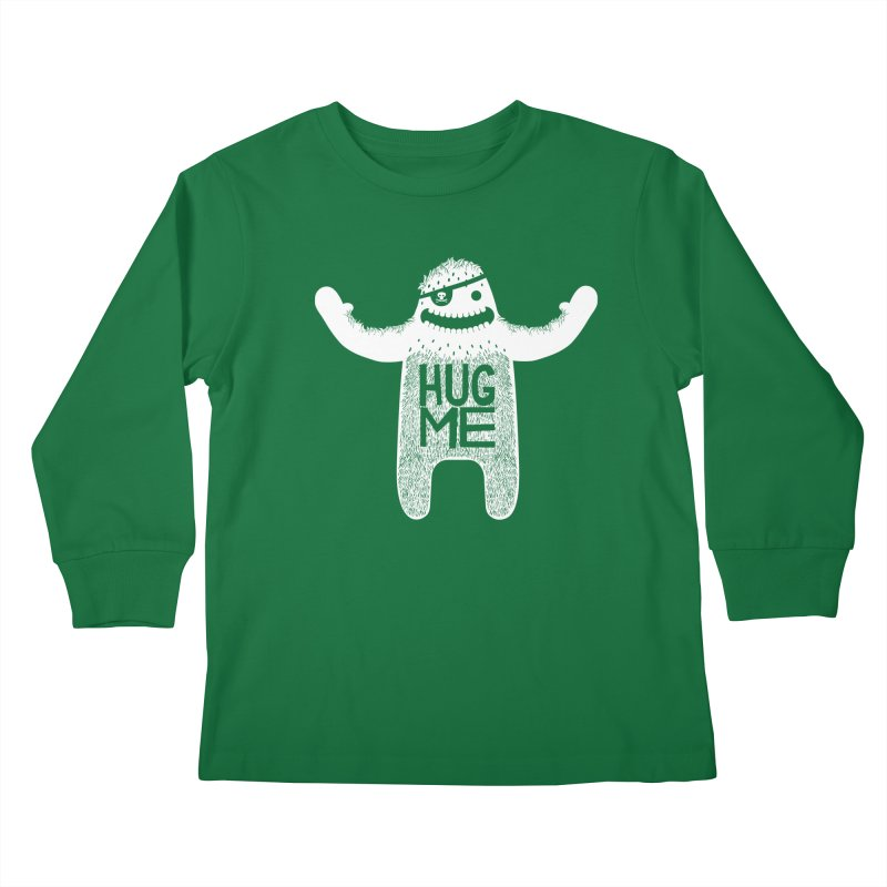 Hug Me Yeti Kids Longsleeve T-Shirt by The Illustration Booth Shop