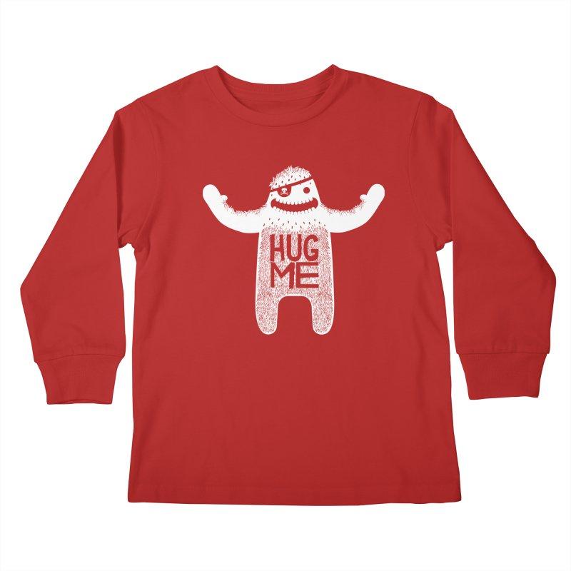 Hug Me Yeti Kids Longsleeve T-Shirt by The Illustration Booth Shop