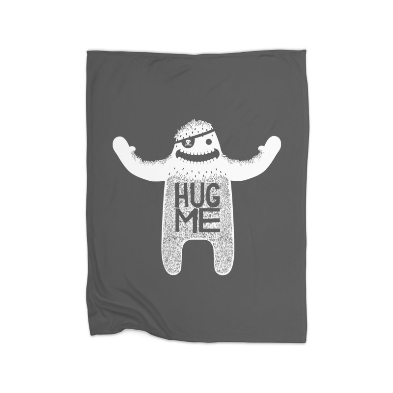 Hug Me Yeti Home Blanket by The Illustration Booth Shop