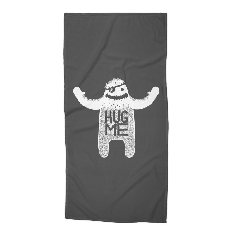 Hug Me Yeti Accessories Beach Towel by The Illustration Booth Shop