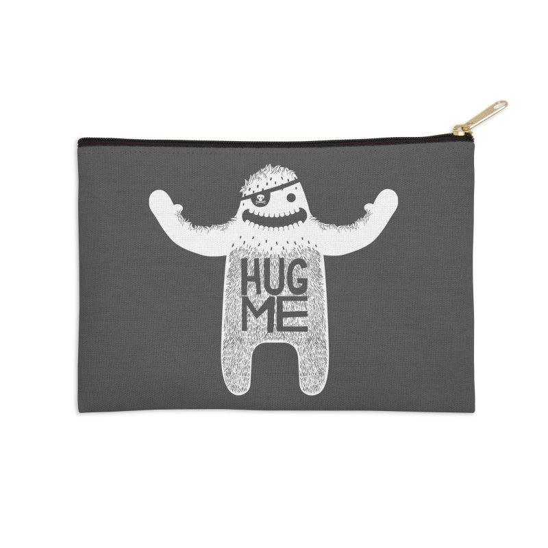 Hug Me Yeti Accessories Zip Pouch by The Illustration Booth Shop