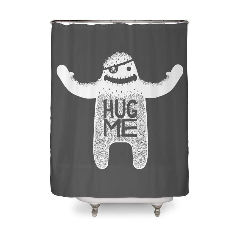 Hug Me Yeti Home Shower Curtain by The Illustration Booth Shop