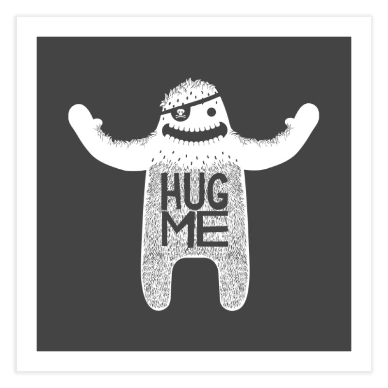 Hug Me Yeti Home Fine Art Print by The Illustration Booth Shop