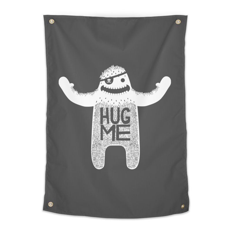 Hug Me Yeti Home Tapestry by The Illustration Booth Shop