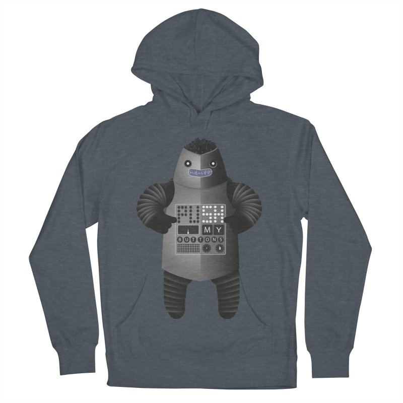 Push My Buttons Men's Pullover Hoody by The Illustration Booth Shop