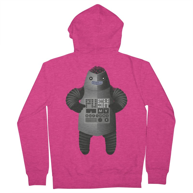 Push My Buttons Women's Zip-Up Hoody by The Illustration Booth Shop