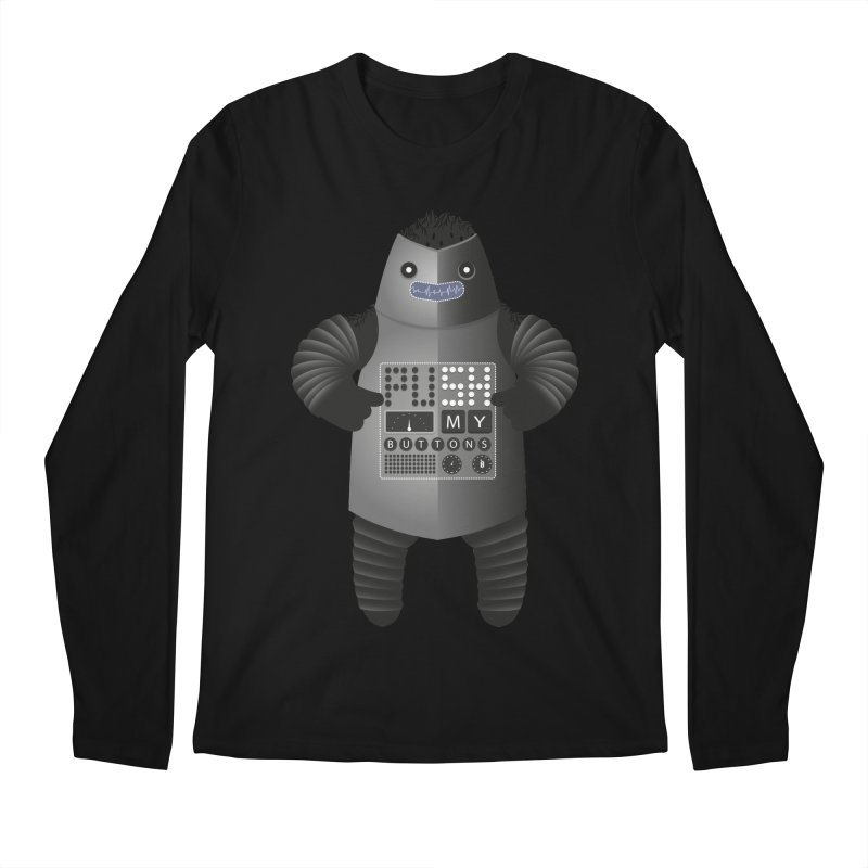 Push My Buttons Men's Longsleeve T-Shirt by The Illustration Booth Shop