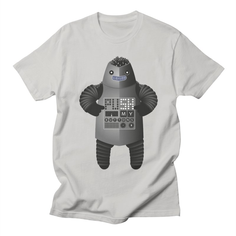 Push My Buttons Men's T-Shirt by The Illustration Booth Shop