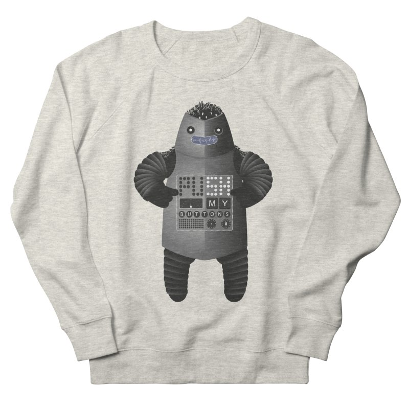 Push My Buttons Women's Sweatshirt by The Illustration Booth Shop