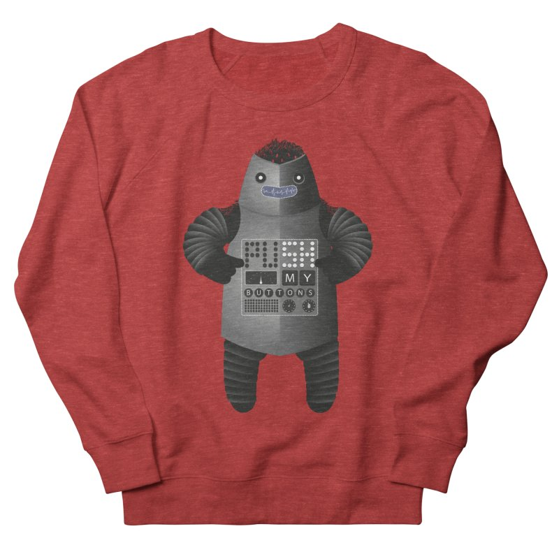 Push My Buttons Men's Sweatshirt by The Illustration Booth Shop