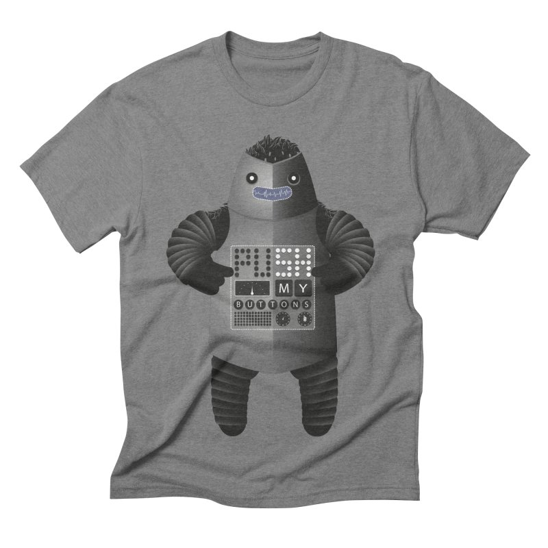Push My Buttons Men's Triblend T-shirt by The Illustration Booth Shop