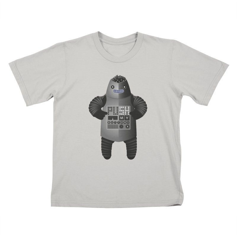 Push My Buttons Kids T-shirt by The Illustration Booth Shop