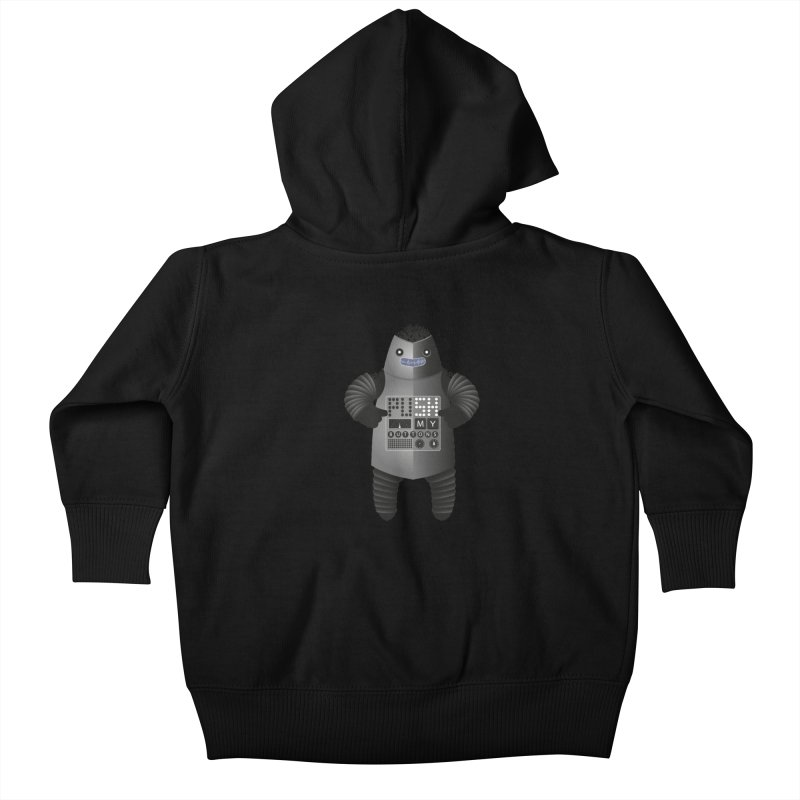 Push My Buttons Kids Baby Zip-Up Hoody by The Illustration Booth Shop