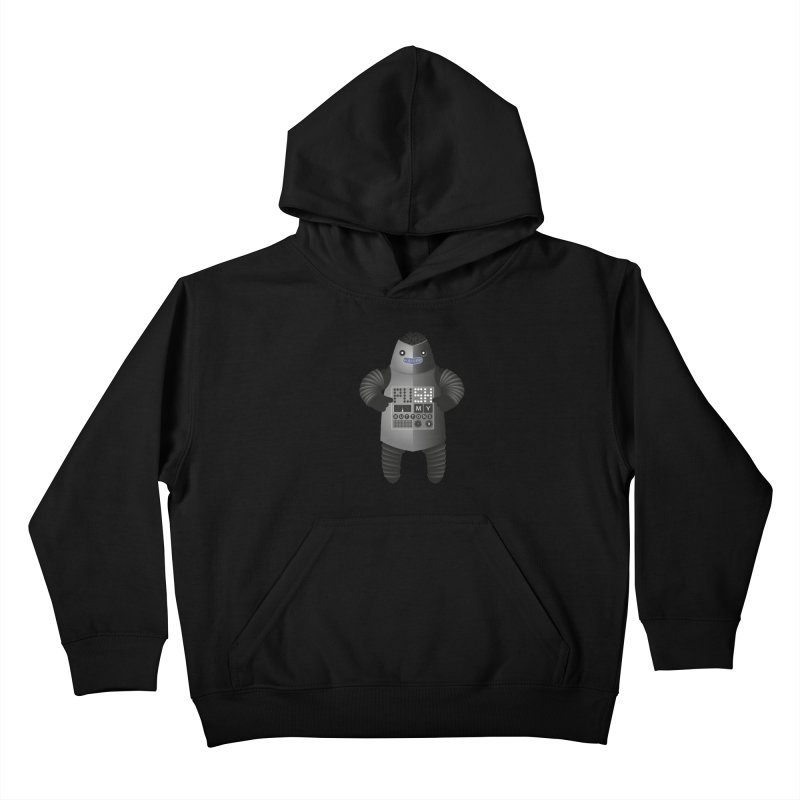 Push My Buttons Kids Pullover Hoody by The Illustration Booth Shop