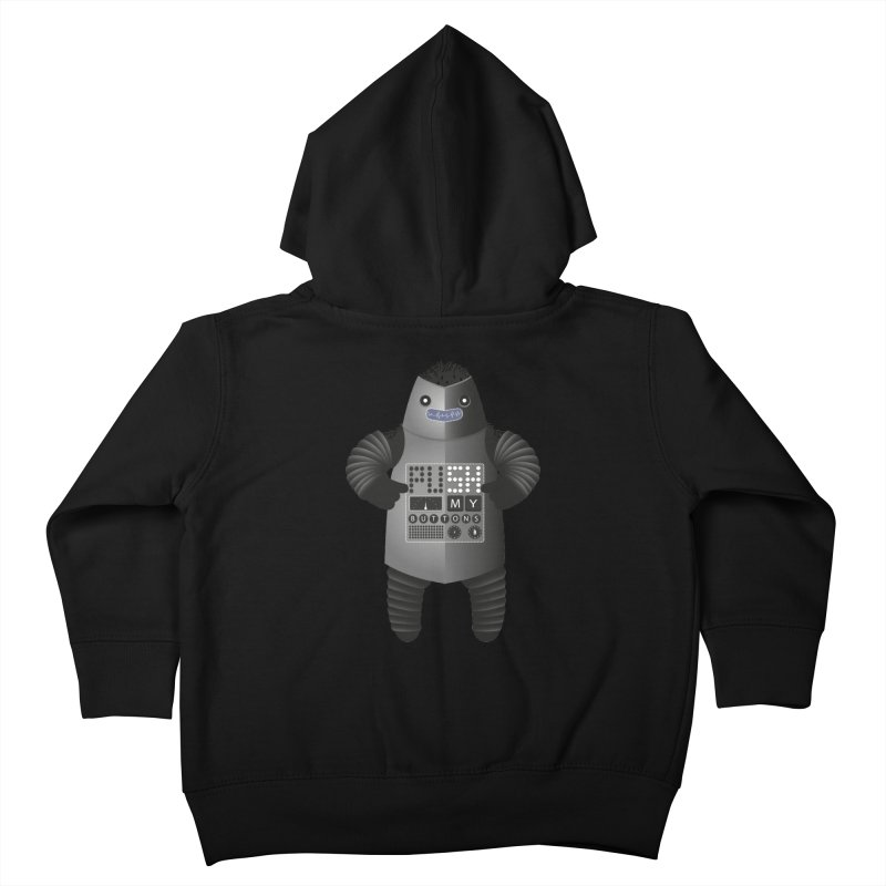 Push My Buttons Kids Toddler Zip-Up Hoody by The Illustration Booth Shop