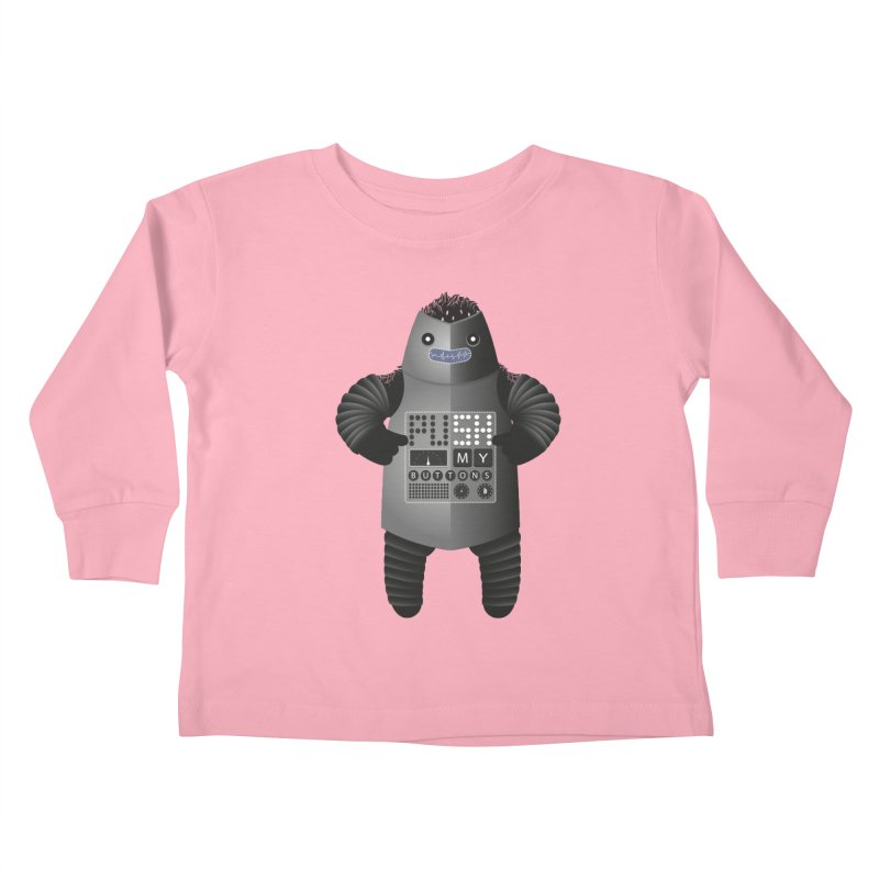 Push My Buttons Kids Toddler Longsleeve T-Shirt by The Illustration Booth Shop