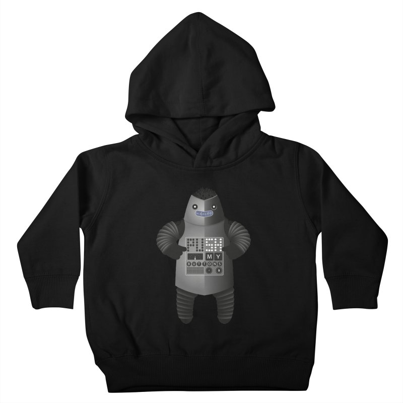 Push My Buttons Kids Toddler Pullover Hoody by The Illustration Booth Shop