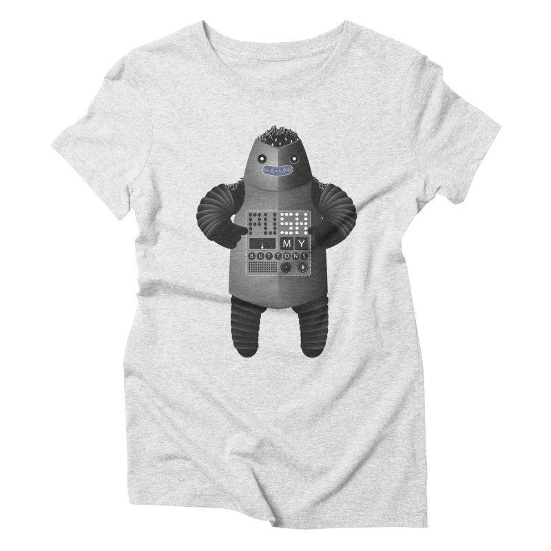 Push My Buttons Women's Triblend T-shirt by The Illustration Booth Shop