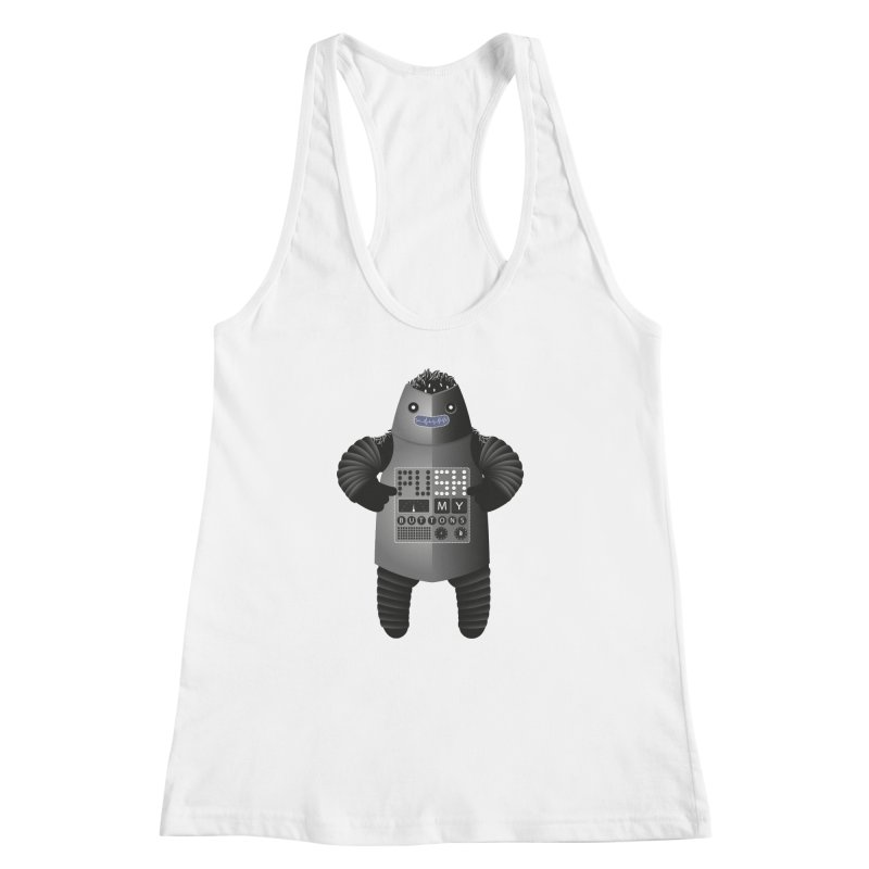 Push My Buttons Women's Racerback Tank by The Illustration Booth Shop