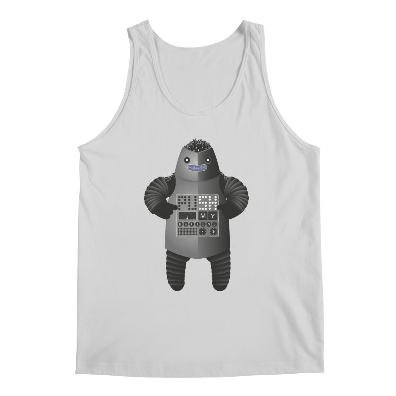 Push My Buttons Men's Tank by The Illustration Booth Shop