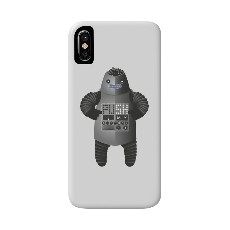 Push My Buttons Accessories Phone Case by The Illustration Booth Shop