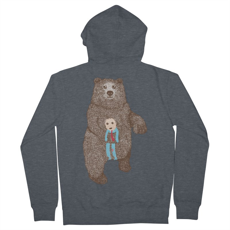 A Bear's Best Friend Men's Zip-Up Hoody by The Illustration Booth Shop
